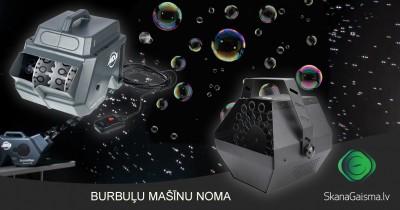 Burbuļu mašīnu noma