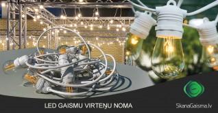 LED gaismu virteņu noma