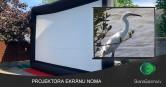 Projektoru ekrānu noma