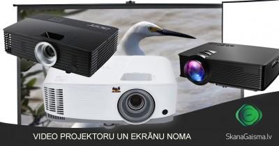 Video projektoru un ekrānu noma