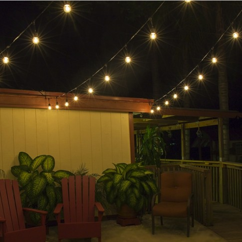 Lielo LED spuldžu apgaismes virtene 100m (balta) | noma