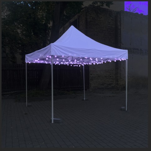 Mazo dekoratīvo LED spuldžu viertene 5m   noma