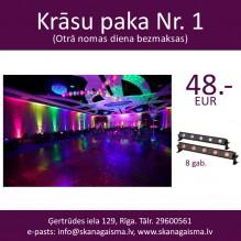 Krāsu paka Nr. 1 <br /><span style=text-transform:none;><small> fona LED apgaismojuma komplekts kāzām, ballītēm</small></span>