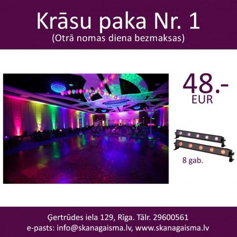 Krāsu paka Nr. 1 | fona LED apgaismojuma komplekts kāzām, ballītēm