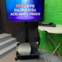 4 mikrofonu karaoke ar 50'' ekrānu <br /><span style=text-transform:none;><small> komplekts</small></span>
