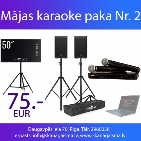 Mājas karaoke komplekts Nr. 2 | noma