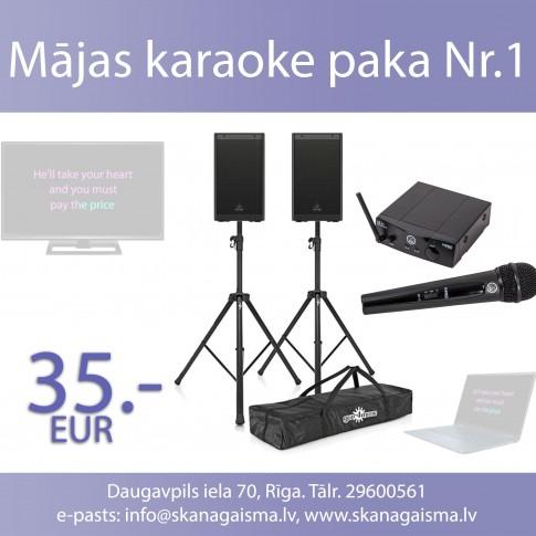 Mājas karaoke komplekts Nr.1 | noma