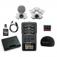 Audio ierakstītājs ar diviem mikrofoniem Zoom H6 <br /><span style=text-transform:none;><small> komplekts</small></span>