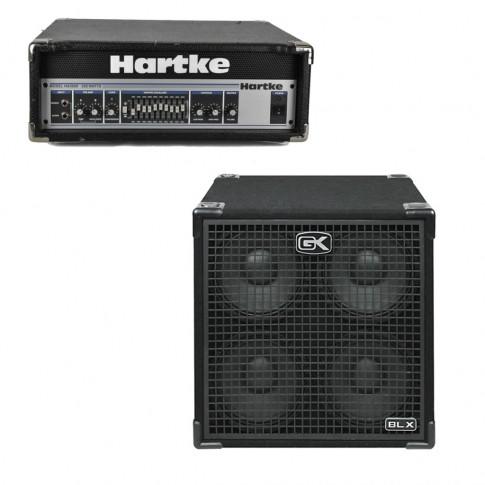 Basģitāras pastiprinātājs Hartke HA3500 + GK 410BLX | komplekts | noma