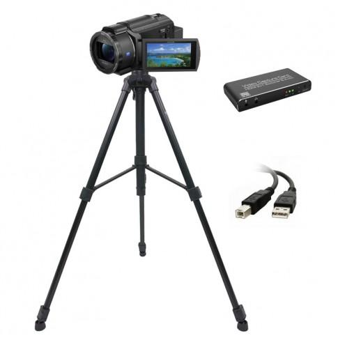 Sony AX43 kamera ar statīvu | noma