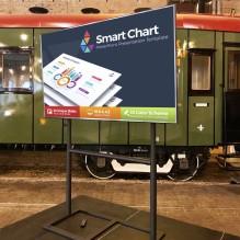 Liels 75″ LG Smart TV ekrāns uz statīva<br /><span style=text-transform:none;><small></small></span>