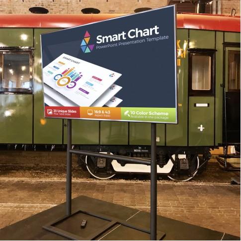 Liels 75″ LG Smart TV ekrāns uz statīva