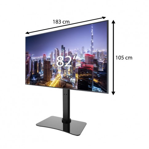 Liels 82″ Samsung Smart TV ekrāns uz statīva
