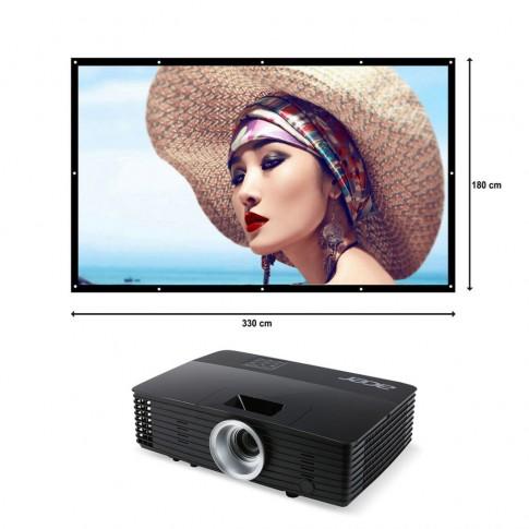 Piekaramais ekrāns un projektors | komplekts