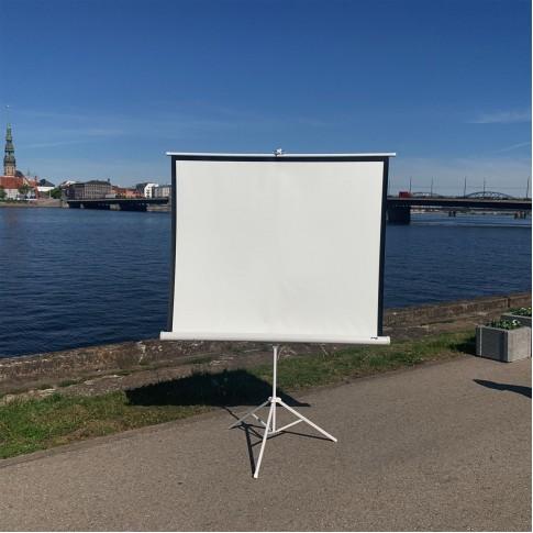 Video projektora ekrāns | 1,5×1,5 m | noma